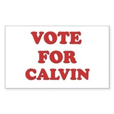 Vote for CALVIN Rectangle Decal