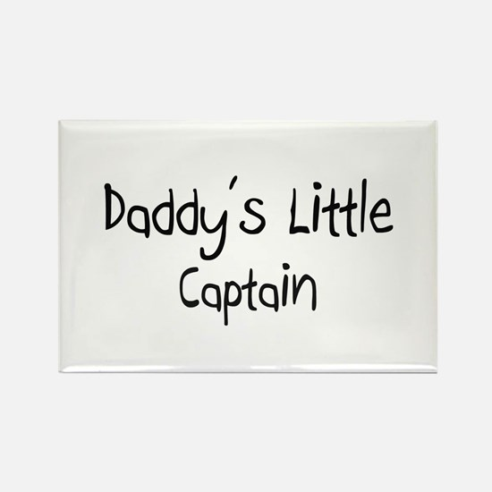 Daddy's Little Captain Rectangle Magnet