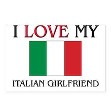 I Love My Italian Girlfriend Postcards (Package of
