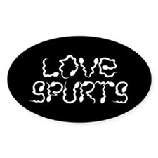 Funny crude Sperms Oval Decal