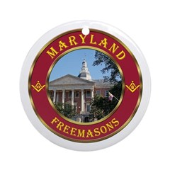 Maryland Masons Ornament (Round)