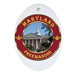 Maryland Masons Oval Ornament
