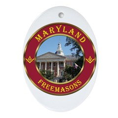 Maryland Masons Oval Ornament