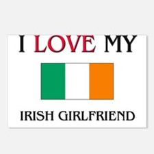 I Love My Irish Girlfriend Postcards (Package of 8