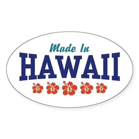 Made in Hawaii Oval Sticker