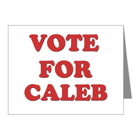 Vote for CALEB Note Cards (Pk of 20)