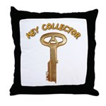 Key Collector Throw Pillow