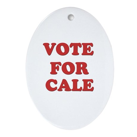 Vote for CALE Oval Ornament