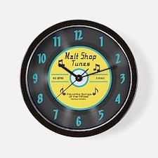 50's 45 Record Wall Clock, Yellow