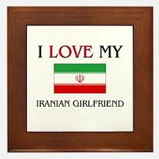 I Love My Iranian Girlfriend Framed Tile
