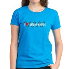 I heart Belgian Malinois Women's Blue T-Shirt