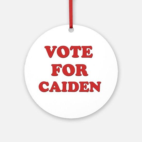 Vote for CAIDEN Ornament (Round)