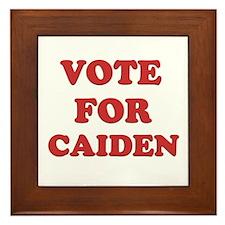 Vote for CAIDEN Framed Tile
