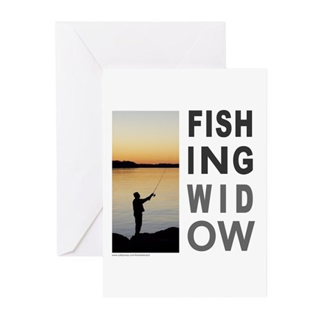 FISHING WIDOW Greeting Cards (Pk of 10)