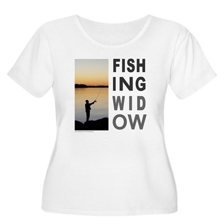 FISHING WIDOW Women's Plus Size Scoop Neck T-Shirt
