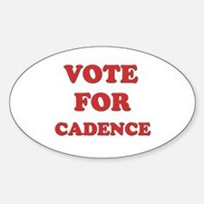 Vote for CADENCE Oval Decal