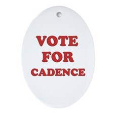 Vote for CADENCE Oval Ornament