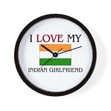 I Love My Indian Girlfriend Wall Clock