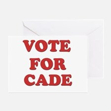 Vote for CADE Greeting Card
