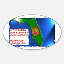 Vacation_Evacuation Oval Decal
