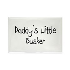 Daddy's Little Busker Rectangle Magnet