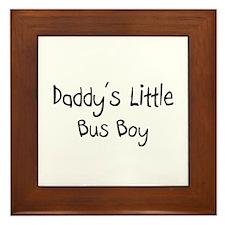 Daddy's Little Bus Boy Framed Tile