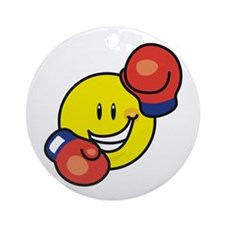 Smile Face Boxing Ornament (Round)