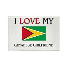 I Love My Guyanese Girlfriend Rectangle Magnet