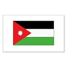 Jordan Flag Rectangle Decal