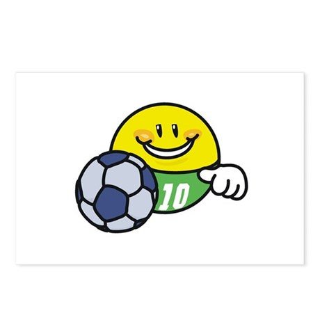 Smile Face Soccer Postcards (Package of 8)