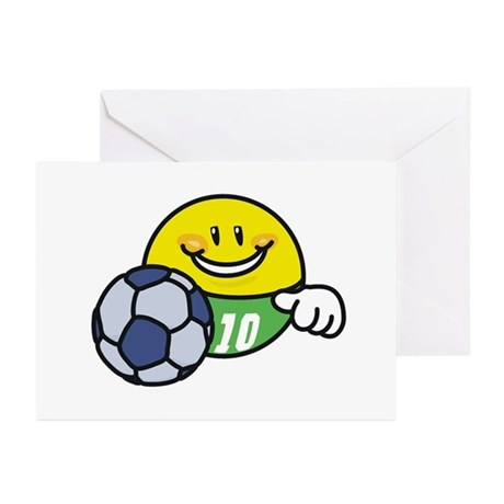 Smile Face Soccer Greeting Cards (Pk of 10)