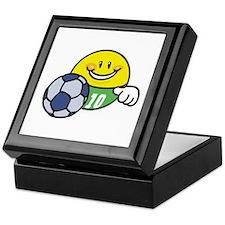 Smile Face Soccer Keepsake Box