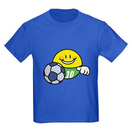 Smile Face Soccer Kids Dark T-Shirt