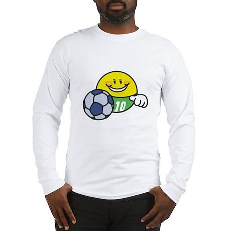 Smile Face Soccer Long Sleeve T-Shirt