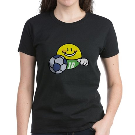 Smile Face Soccer Women's Dark T-Shirt