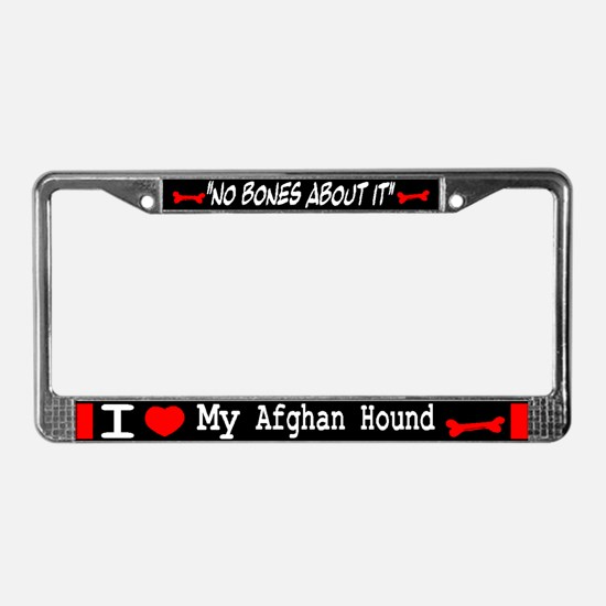 Afghan Hound Gifts License Plate Frame