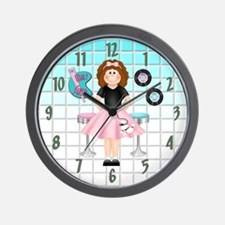 50's Malt Shop Wall Clock