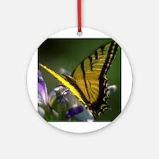 Yellow Swallowtail Butterfly Keepsake (Round)