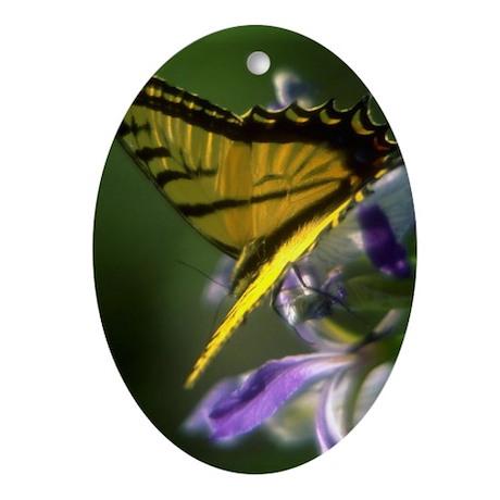 Yellow Swallowtail Butterfly Keepsake (Oval)