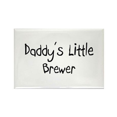 Daddy's Little Brewer Rectangle Magnet