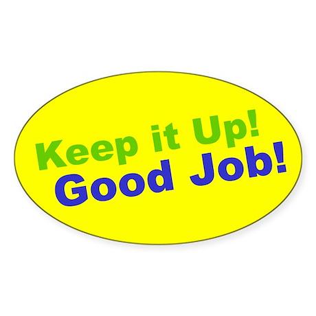 Good Job! Oval Sticker
