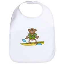 Monkey Surfer Bib