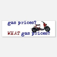 """What Gas Prices?"" Bumper Bumper Bumper Sticker"