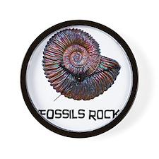 Fossils Rock! Wall Clock