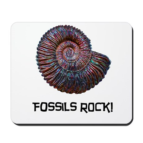Fossils Rock! Mousepad