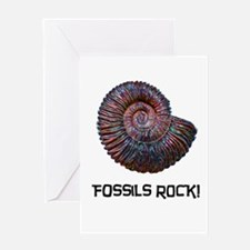 Fossils Rock! Greeting Card