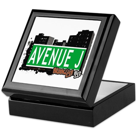 AVENUE J, BROOKLYN, NYC Keepsake Box