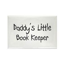 Daddy's Little Book Keeper Rectangle Magnet