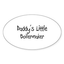 Daddy's Little Boilermaker Oval Decal