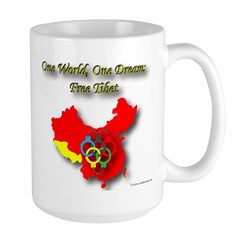 China in Handcuffs Large Mug